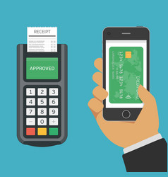 mobile payments using smartphone vector image