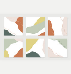 modern abstract shapes cards design template vector image