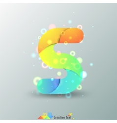 Modern Capital Letter S vector image