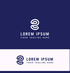 modern letter initial e logo design template vector image