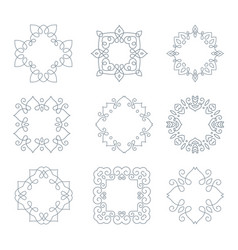Monochrome monogramm collection vector