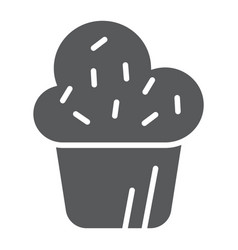 muffin glyph icon cake and food cupcake sign vector image