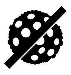 No microbe spore - icon vector