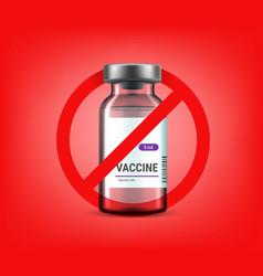 No vaccination covid19 dissident concept vector