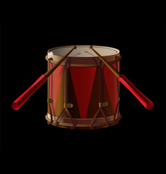 old drum vector image