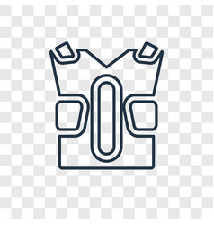 Padded shirt concept linear icon isolated vector