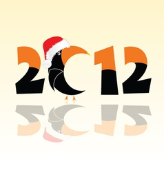 parrot in 2012 year vector image