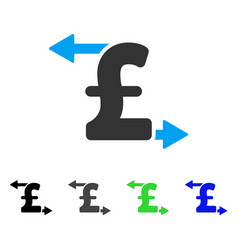 Pound payouts flat icon vector