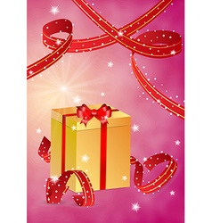Present and ribbons vector