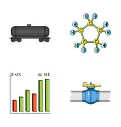 railway tank chemical formula oil price chart vector image