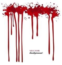Red Ink stain blots and splashes Isolated vector