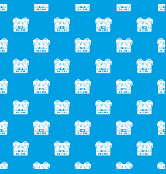retro tape recorder pattern seamless blue vector image