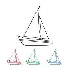 Sailing boat icon vector
