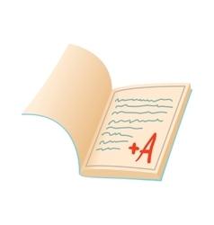 School diary icon cartoon style vector image