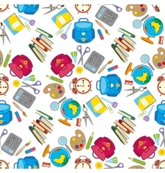 School seamless pattern on white background vector