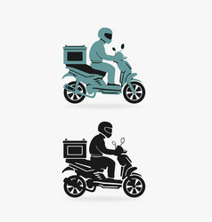 Scooter delivery symbol vector