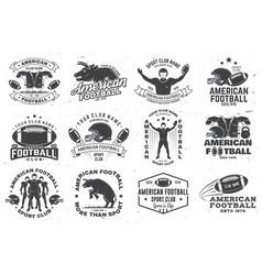 Set american football or rugclub badge vector