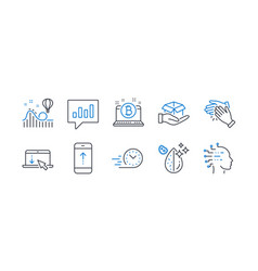 Set business icons such as analytical chat vector