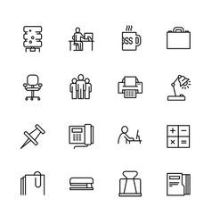 simple set symbols business career and teamwork vector image