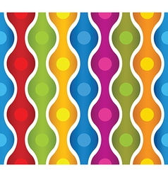 Simplistic colorful wavy lines and circles vector