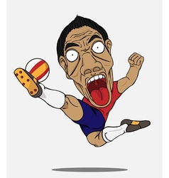 soccer player Spain vector image