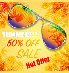 summer hot offer background vector image