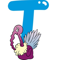 T for turkey vector