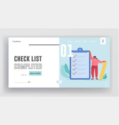 task solutions and new ideas check list website vector image