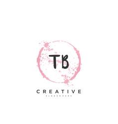 Tb beauty initial logo handwriting logo art vector