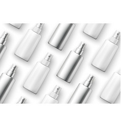 template - realistic cosmetic spray bottles vector image