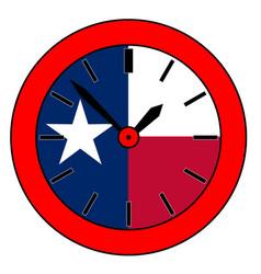 Texas state clock vector