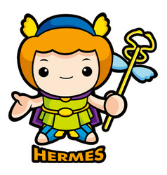 The god of strangers hermes character olympus god vector