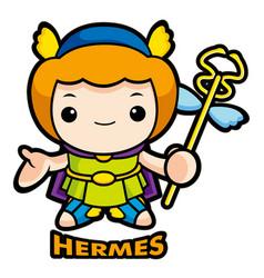 The god of strangers hermes character olympus god vector