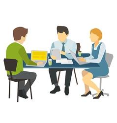 Three people working vector image