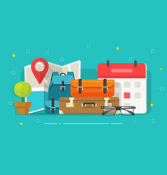 Travel or trip destination planning and schedule vector