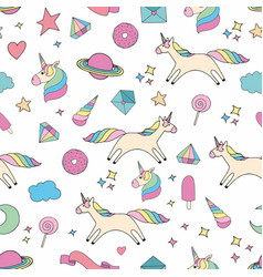 Unicorn colorful seamless pattern for design and vector