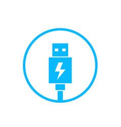 usb charging plug icon vector image