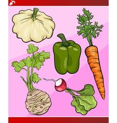 vegetables set cartoon vector image