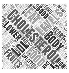 What to eat to lower cholesterol word cloud vector