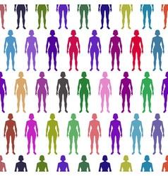 Women pattern vector image