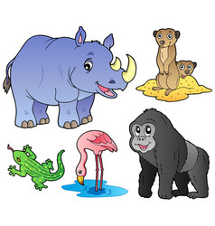 Zoo animals set 1 vector