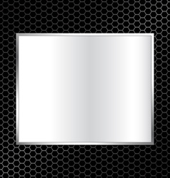 abstract metal texture background with rectangle vector image
