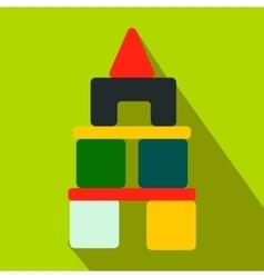 Children blocks flat icon vector image vector image