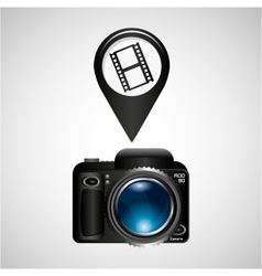 digital photo camera roll film vector image vector image