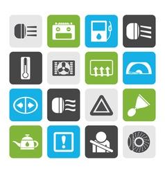 Flat Car Dashboard vector image