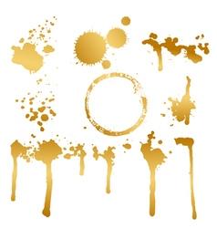 golden blots vector image vector image