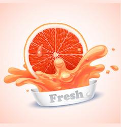 juicy grapefruit vector image vector image