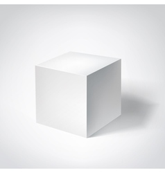 White 3d cube vector