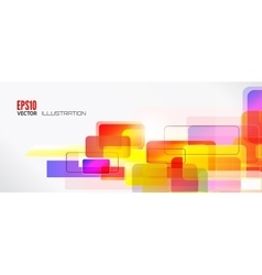 Abstract lines background with colored elements vector image vector image