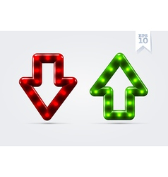 Arrows up and down icons vector image vector image